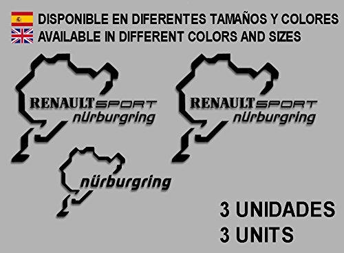 pegatinas-stickers-renault-sport-nurburgring-f25-aufkleber-decals-autocollants-adesivi-rallye-negro