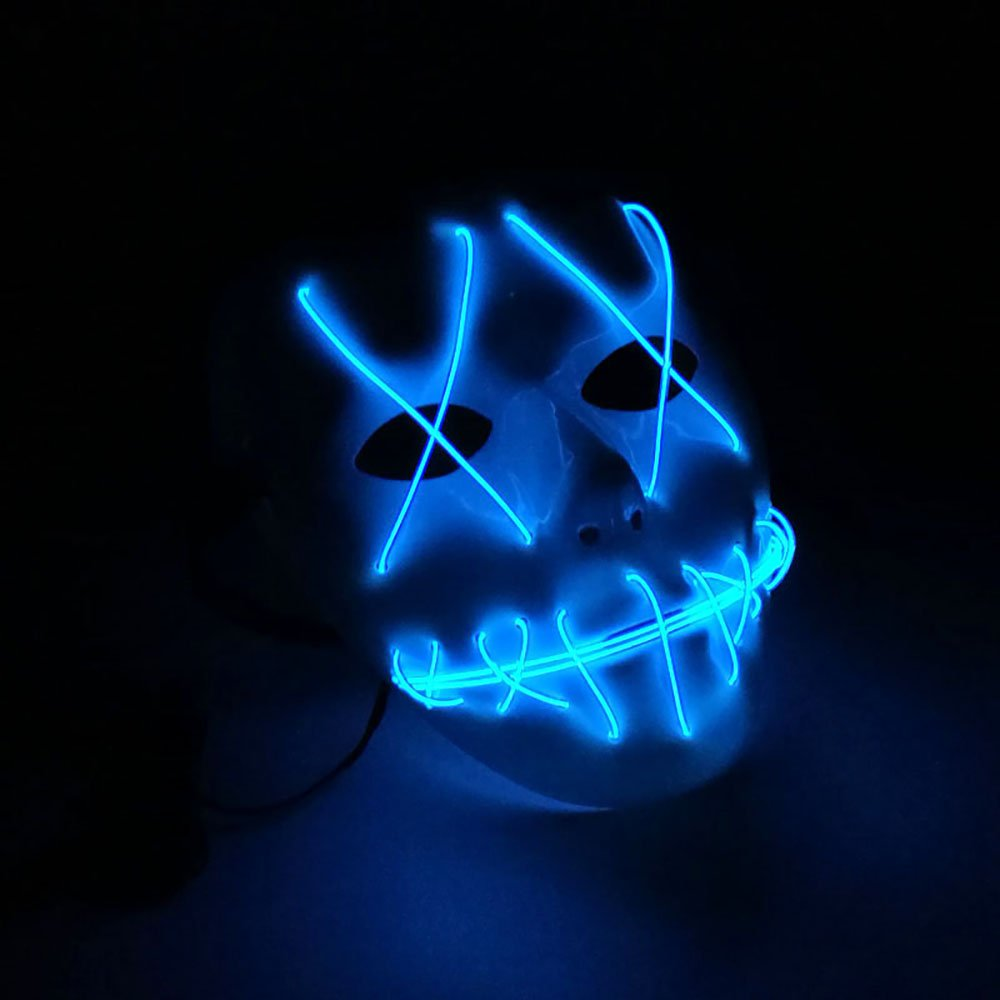LED Light EL Wire Cosplay Maske fr Halloween Christmas Party Costume ...