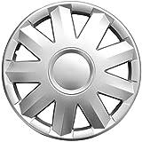 (Farbe & Größe wählbar) 15 Zoll Radkappen TURKUS Silber passend für fast alle gängingen Fahrzeuge (universal)