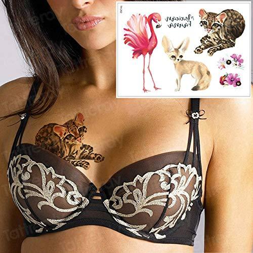 Handaxian 3pcs Tattoo und Body Art wasserdichte Ärmel Arm Fuchs Pferd Vogel Tattoo 3pcs-15