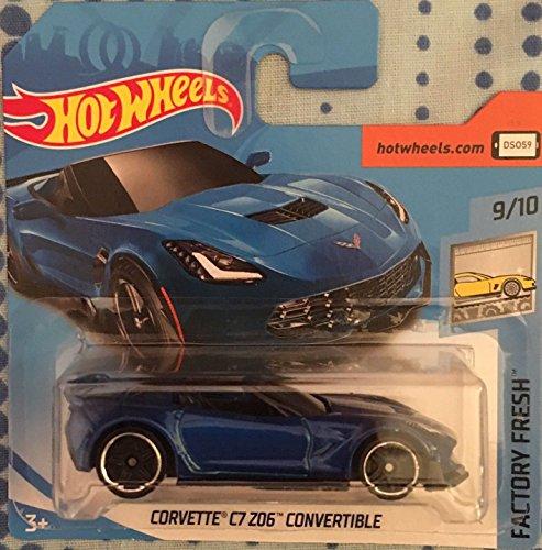 Hot Wheels 2018 Factory Fresh Corvette C7 Z06 Convertible Blue 5/365 (Short Card)