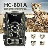 AHHYH Telecamera da Caccia Fotocamera Trail 16MP 1080P Telecamera per Lo Scouting della Fauna Selvatica Impermeabile IP65 con Visione Notturna a infrarossi PIR Fino a 25 m