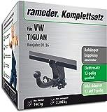 Rameder Komplettsatz, Anhängerkupplung abnehmbar + 13pol Elektrik für VW TIGUAN (142295-36223-1)