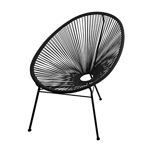SKASON PULKKO - klassischer Design-Sessel im Acapulco-Style, Outdoorstuhl, Gartensessel, ganz in...