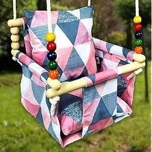 BlueKitty Schaukel für Kinder; Babyschaukel; Kinderschaukel mit Kissen; Schaukel für Haus und Garten; Babyschaukel…