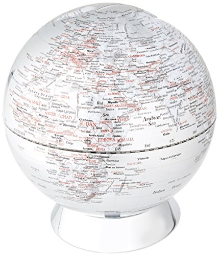 Globe Collection, Globus-Sparbüchse, 20 cm, Silber