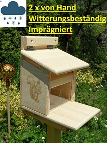 Qualität aus Niederbayern ARBRIKADREX Eichhörnchenfutterhaus Eichhörnchen Haus Kobel Futterstation, hochwertig Imprägniert, von Hand gefertigt im Bayerischen Wald