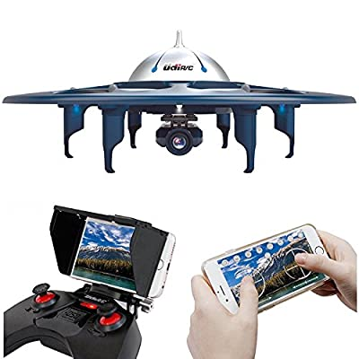 Dazhong UDIRC WiFi FPV Drone with HD Camera(1280*720) ,2.4GHz 6 Axis 4CH Gyro RTF UFO RC Quadcopter Drone with Headless Mode Gravity Induction and Low Voltage Alarm,360¡ãFlips