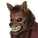 Máscara animada hombre lobo adulto