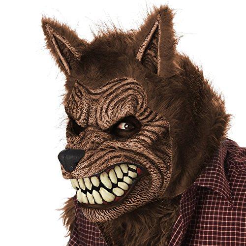 Animierte Werwolfmaske für Erwachsene (Scary Werwolf Maske)