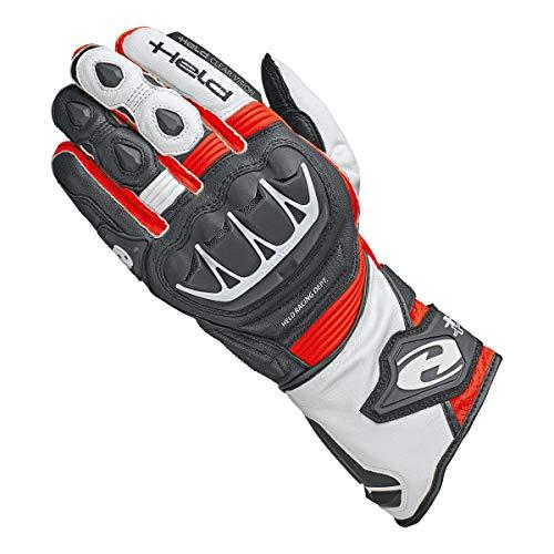 Held Motorradschutzhandschuhe, Motorradhandschuhe lang Evo-Thrux II Sport Handschuh schwarz/rot 9, Herren, Sportler, Ganzjährig, Leder Held Leder