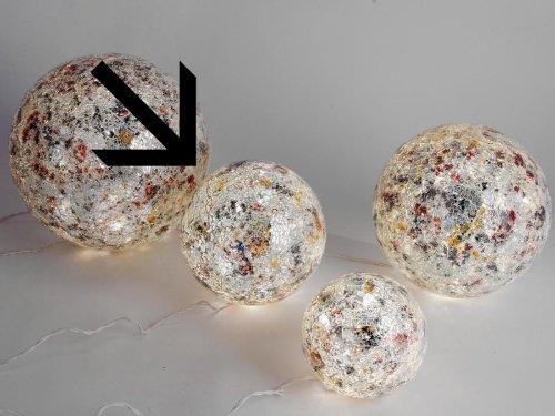 formano kugellampe Beleuchtete Mosaikkugel silber aus farbigem Glas gefertigt Durchmesser 20 cm