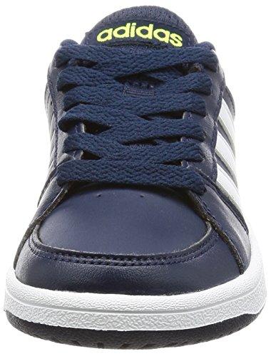 adidas VS HOOPS K B74675 Jungen Schnürhalbschuh sportlicher Boden Collegiate Navy