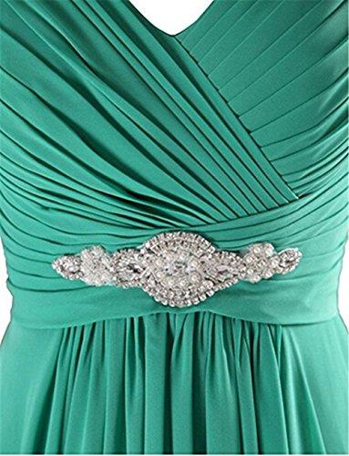 Lisianthus002 Women's Long V-Neck Wedding Gown Bridesmaid Dress 12 Mint