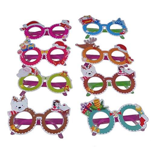Tinksky 8 x dibujos animados diseñados gafas de ojos lentes innovadoras gafas de disfraces de plástico para la Navidad