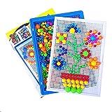 YGMDSL Pilz Nagel Vielfalt Tafel Kind Frühe Erziehung Spielzeug DIY Montieren Dreidimensionales Puzzle