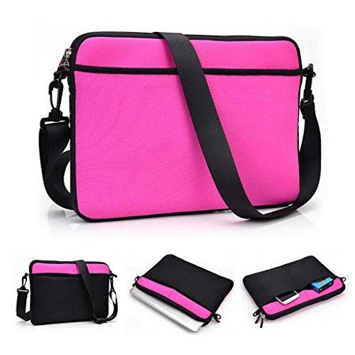 Kroo 27,9cm tablet neoprene borsa/Spalla manica adatta Dell Streak 10Pro magenta Magenta