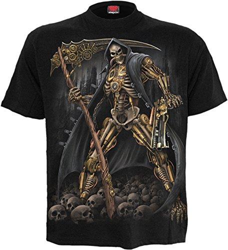 Spiral Steampunk Skeleton T-Shirt Schwarz Schwarz