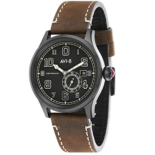 AV-4058-03 - AVI-8 - Flyboy Automatic Men's Watch - Leather - 42 mm
