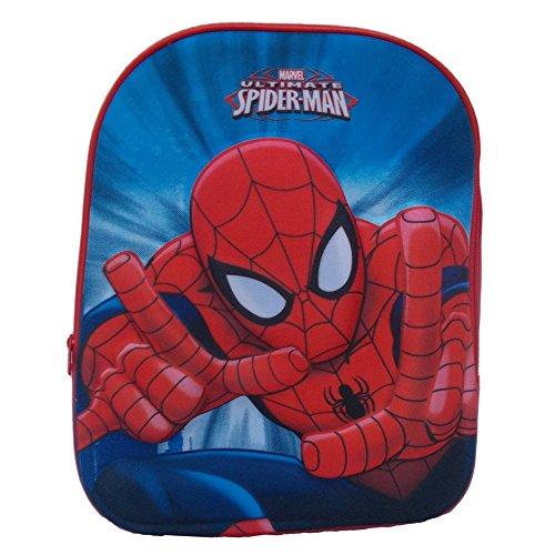 Zaino asilo borsa scuola spiderman marvel 3d cm.33 - 3880
