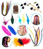 Flair for Hair- 126 Pieces Feather Hair Extensions Super Salon Kit By VAGA