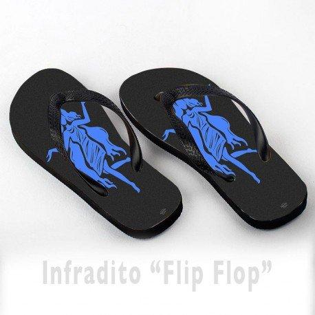 Infradito FlipFlop Personalizzate Vergine Segno Zodiacale Blu Zodiaco
