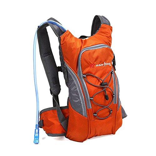 OUTERDO Radfahren Reiserucksack mit wasserdichte Sport Trinkrucksack 10L Mit hoher Kapazität Reise Tasche Orange
