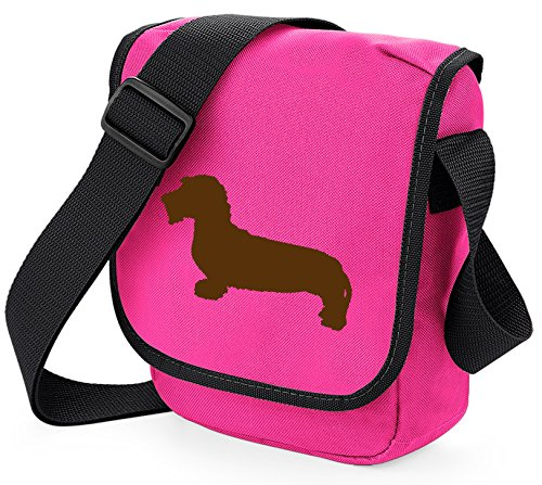 Bag Pixie - Borsa a tracolla unisex adulti Brown Hound Pink Bag