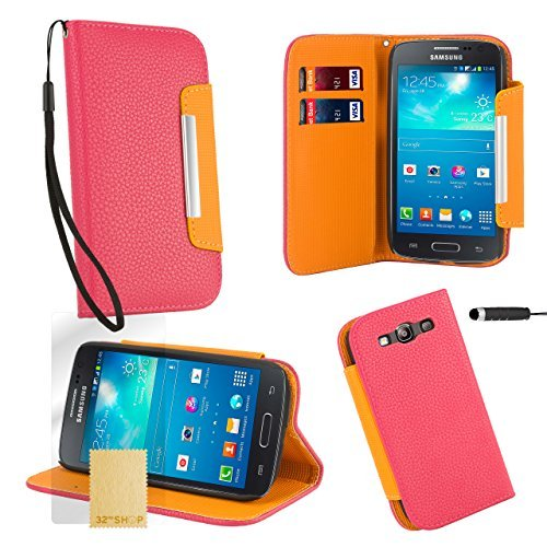32ndShop 32nd Stand Book PU leather wallet case cover for Samsung Galaxy S3 Siii i9300 + screen protector