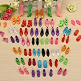40 Pairs Different High Heel Shoes Boots Accessories For Barbie Doll by CTU BroHall