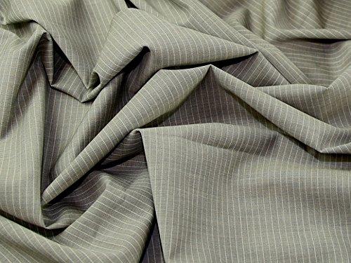 Wolle Nadelstreifen Passend (Italienische Wolle & Kaschmir Nadelstreifen passend Kleid Stoff Taupe-Meterware)