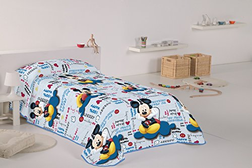 Disney Mickey - Colcha para cama de 90 cm