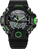 EASTPOLE Dual LCD Anzeige Herren Armbanduhr Quarzuhr mit Armband aus Silikon Sport Uhr OHS220