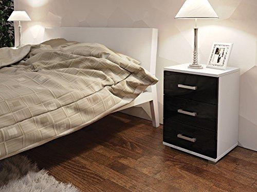 neli-n3-table-de-chevet-table-de-nuit-3-tiroirs-le-corps-blanc-haute-brillance-le-front-noir-haute-b