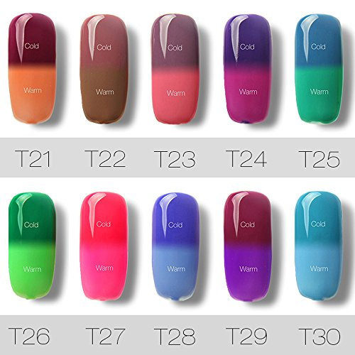 Vernis à ongles Longra 7ML changer de couleur Gel Vernis à ongle UV LED Gel Polish (1_E) 3_C