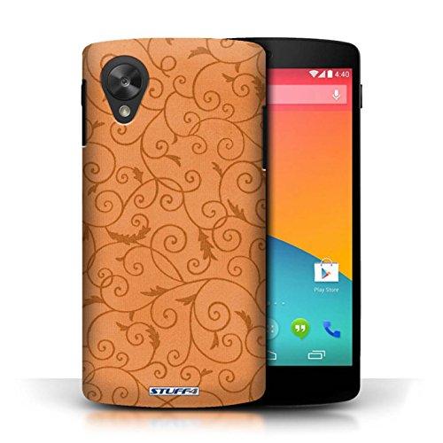 Kobalt® Imprimé Etui / Coque pour LG Google Nexus 5/D821 / Rose conception / Série Motif de la vigne Orange