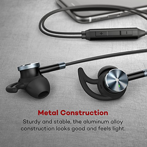 Active Noise Cancelling Headphones In Ear Earphones (Wired Earphones, Noise Cancellation, 15 Hours Playtime, Aluminum Alloy Construction, Gold-plated Jack, Remote Control, Additional Ear-buds and Hooks)