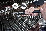 Cago, Premium Grillbürste / Reinigungsbürste für 360° Reinigung aus Edelstahl , Schwarz