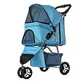 Best Pet 3 Wheel Strollers - Pet stroller Pet Wheelbarrow Medium And Small Dog Review