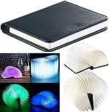 Lunartec Buchlampe: Klappbare LED-Stimmungsleuchte im Buch-Design, 5 Farben, 0,2 Watt (LED Buchlampe)