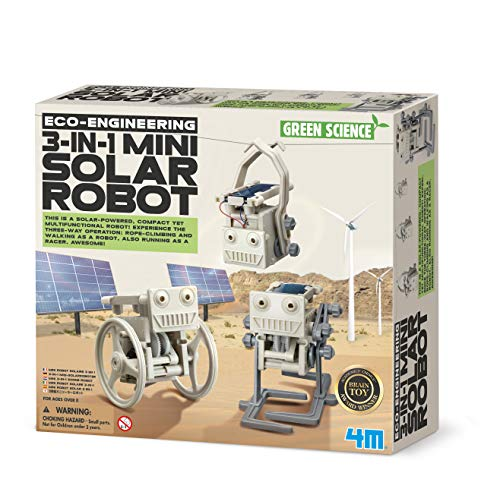4M 3-in-1 ECO Engineering Mini Solar Roboter Spielzeug