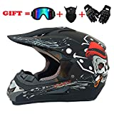 NOMEN Adulte Motocross Casque MX Moto Casque ATV Scooter ATV Casque D. O. T Certified...