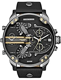 Diesel Men's DZ7348 Mr Daddy 2.0 Gunmetal Black Leather Watch