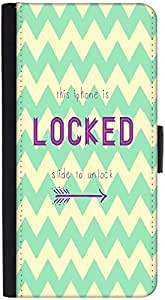 Snoogg Phone Is Locked Graphic Snap On Hard Back Leather + Pc Flip Cover Htc ...