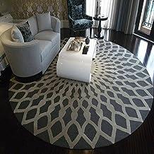 Moda redondo de alfombra/ manta de la puerta de casa/Alfombra de dormitorio en el estudio-A diámetro100cm(39inch)
