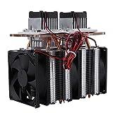 Dual-Core-Halbleiter-Kälte Thermoelektrische Peltier Luftkühlung Entfeuchtung Ausrüstung DIY Kit 144W