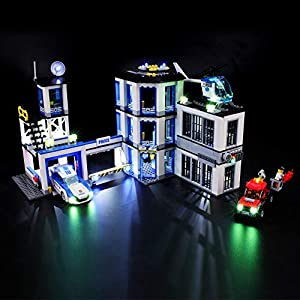 BRIKSMAX Kit di Illuminazione a LED per Lego City Stazione di Polizia, Compatibile con Il Modello Lego 60141 Mattoncini… LEGO City LEGO