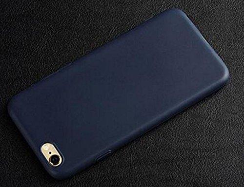 Hosaire 1 Stück Telefon Fall Mode Silikon-Telefon-Kasten für iPhone 6 / 6S -Gelb dunkelblau