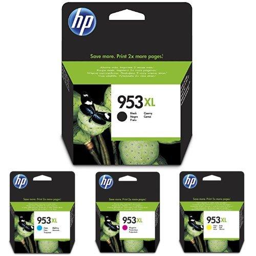 HP 953XL Schwarz/Cyan/Magenta/Gelb Original Druckerpatronen mit hoher Reichweite für HP Officejet Pro