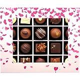 Hallingers 20er Pralinen-Mix handgemacht, mit/ohne Alkohol (240g) - Pinke Herzen (Pralinenbox) - zu Muttertag & Vatertag